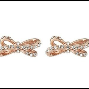 Kate Spade Rose Gold Bow Earrings